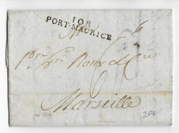 DEPARTEMENT CONQUIS N° 108 : TANARO (ITALIE) - 1809 - LETTRE De PORT-MAURICE => MARSEILLE - 1792-1815: Conquered Departments