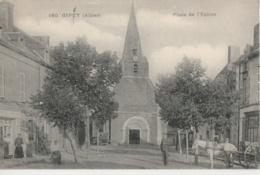 03 - GIPEY - Place De L'Eglise - Attelage à Cheval (impeccable) - France