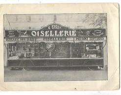 ROULOTTE DE FOIRE FETE FORAINE LOTERIE OISELLERIE ERNST BELGIQUE 1936 Signée Par Lui 2 SCANS - Marchands Ambulants