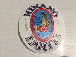 Ancienne Étiquette 1.1 BIÈRE BRASSERIE HINANO TAHITI PAPEETE POLYNÉSIE FRANÇAISE - Beer