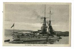 "La Spezia - Regia Nave ""Giulio Cesare"" Pas Circulé - Guerra"