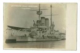 """SMS Erzherzog """"Franz Ferdinano"""" Cuirassé Torpilleur - Foto G. Bassan - Pas Circulé - Warships"""