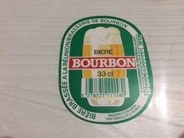 Ancienne Étiquette 1.1 BIÈRE BRASSERIE BOURBON ILE DE LA RÉUNION - Bière