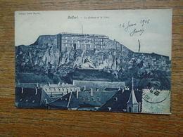 """Belfort , Le Château Et Le Lion """""""" Carte De 1906 """""""" - Belfort - Ville"""