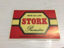 Ancienne Étiquette 1.1 BIÈRE ÉTRANGÈRE BRASSERIE NORD MAROCAIN FÈS BIÈRE LUXE STORK - Bière