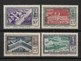 French Morocco 1951,Scott # 267-269+ Air Mail 50fr C41,VF Mint VLH (RN-4) - Morocco (1891-1956)