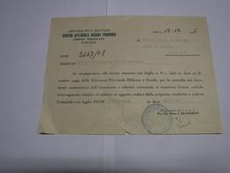 TERLIZZI -- BARI  ----   CENTRO DI AFFLUENZA  REDUCI PRIGIONIA   -- AREONAUTICA MILITARE - Italie