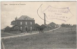 LIGNE Prés De Houtaing Et Moulbaix. BRASSERIE Auguste Horlait Brasseur. Quartier De La Pannerie. Postée 1913. 2 Scans - Belgique