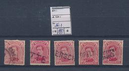 "BELGIUM ""FORTUNE"" USED SELECTION - 1915-1920 Albert I"