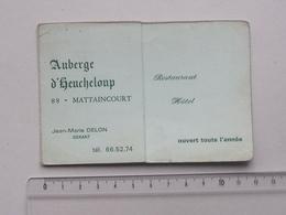 MATTAINCOURT (88): Publicité Ancienne Carte De Visite AUBERGE D'HEUCHELOUP Hotel - Gérant DELON Jean-Marie - Publicités