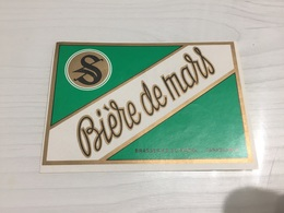 Ancienne Étiquette 1.1 BIÈRE ÉTRANGÈRE BRASSERIE MAROC CASABLANCA BIÈRE DE MARS - Beer
