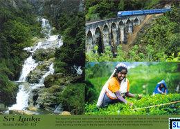 Sri Lanka Postcards, Ranana Waterfall, Ella, Trains, Tea Plucker, Postcrossing - Sri Lanka (Ceylon)