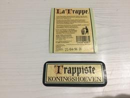 Ancienne Étiquette 1.1 BIÈRE ÉTRANGÈRE BRASSERIE TRAPPISTE KONINGSHOEVEN - Bière