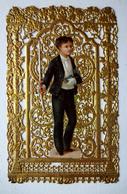 IMAGE PIEUSE  CANIVET DORE ...COMMUNIANT AVEC SON CIERGE - Devotion Images