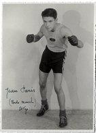 Carte Photo Ancienne < LE BOXEUR < JEAN PARIS - POIDS MOUCHE (50 Kg) - Boxing