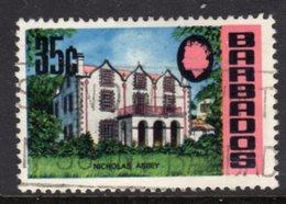 BARBADOS - 1970 35c DEFINITIVE WMK W12 S/W CHALK PAPER USED STAMP REF B SG 410 - Barbados (1966-...)