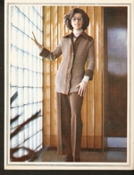 """K. USSR Soviet Russia 1979 - Women Fashion Suit Knitting Pattern With Needles On The Backside Size 5.5"""" X 7"""" - Fashion"""