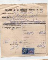 Vic-Fezensac (32 Gers) Reçu Avec Timbre Fiscal 100fr 1960  (PPP16799) - Revenue Stamps