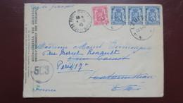 Belgique Lettre De Louvain Juin 1945 Pour Fontainebleau Avec Censure Contrôle  Postal 563 - Guerre 40-45