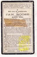 DP Jan Roose ° Aartrijke Zedelgem 1837 † 1922 X Rosalie Bonte - Devotion Images