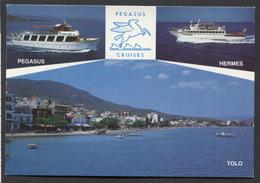 Pegasus Cruises - Tolo Greece / Perasus / Hermes / Tolo -Not Used - See The 2  Scans For Condition. ( Originalscan !!! ) - Greece
