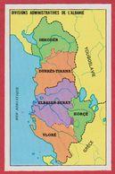 Divisions Administratives De L' Albanie. Encyclopédie De 1970. - Vieux Papiers