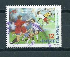 1998 Nepal Voetbal,football Used/gebruikt/oblitere - Nepal