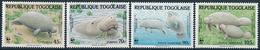 Mi 1763-66 MNH ** / WWF World Wildlife Fund / African Manatee Sea Cow Trichechus Senegalensis - Togo (1960-...)
