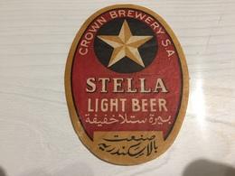 Ancienne Étiquette 1.1 BIÈRE ÉTRANGÈRE BRASSERIE CROWN BREWERY ARABIE SAOUDITE STELLA LIGHT BEER - Beer