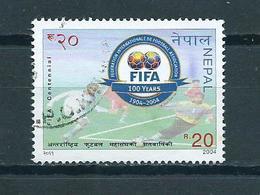 2004 Nepal 100 Years FIFA,football Used/gebruikt/oblitere - Nepal