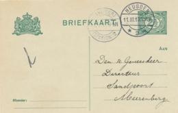 Nederland - 1913 - Briefkaart Van LB HEUSDEN/2 Naar LB SANTPOORT / (STATION) 2 - Poststempels/ Marcofilie