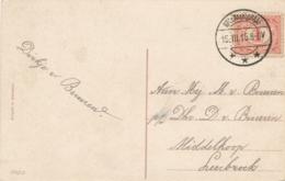 Nederland - 1915 - Ansicht Van LB MOLENAARSGRAAF Naar Leerbroek - Poststempels/ Marcofilie