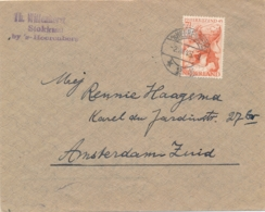 Nederland - 1945 - Bevrijdingszegel Op Cover Van LB 'sHEERENBERG Naar Amsterdam - Poststempels/ Marcofilie
