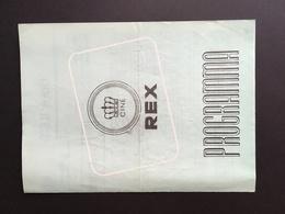 ANTWERPEN - Programma - Film - Cinema - REX - Movie - Operette - Peter Alexander - Marika Rokk - Johann Strauss - Programma's
