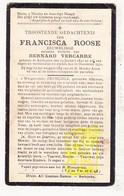 DP Eeuweling 100 Jaar Honderjarige - Francisca Roose ° Aartrijke Zedelgem 1830 † 1930 X Bernard Vercarre - Devotion Images