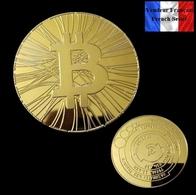 1 Pièce Plaquée OR ( GOLD Plated Coin ) - Bitcoin Antana BTC - Monnaies