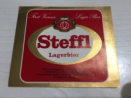 Ancienne Étiquette 1.1 BIÈRE ÉTRANGÈRE AUSTRIA STEFFL LAGERBIER - Beer