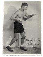Carte Photo Ancienne < LE BOXEUR < CHAUBET EUGENE (Poids PLUME) 68 Kgs - Boxing