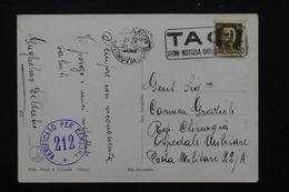 ITALIE - Correspondance Militaire De Milano Sur Carte Postale , Cachet De Censure - L 21163 - Posta Militare (PM)