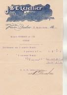 CANADA 1/2 Facture Illustrée 17/9/1896 J B E LETELLIER Marchand Epicier QUEBEC - Canada