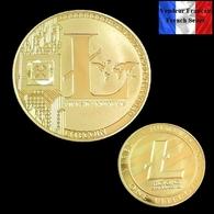 1 Pièce Plaquée OR ( GOLD Plated Coin ) - Litecoin LTC ( Ref 1 ) - Monnaies