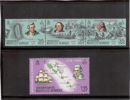M17 - PO 394 / 397 ** MNH De 1974 - COOK Et HMS RESOLUTION - W.WALES - W.HODGES - COOK,RESOLUTION,CARTOGRAPHIE - Légende Française