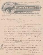 CANADA Lettre Facture Illustrée 18/8/1894 NAZAIRE TURCOTTE épicerie Denrées Coloniales Vins Spiritueux QUEBEC - Canada