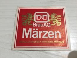 Ancienne Étiquette 1.1 BIÈRE ÉTRANGÈRE AUSTRALIENNE WIESELBURG BRAUAG MÄRZEN GEBRAUT BRAUEREI - Bière