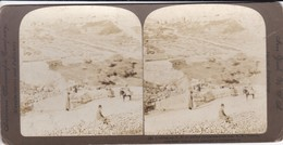 PALESTINE--JERUSALEM--looking Up N. E. To Walled Jerusalem From Near R. R.  Station--voir Scan - Photos Stéréoscopiques
