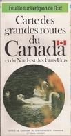 CANADA (EST) - ÉTATS-UNIS (NORD-EST) - CARTES ROUTIÈRES.(1973) - Cartes Routières