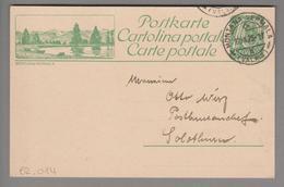 Schweiz GS Bildpostkarte Zu#82.014 übereinstimmend Montana-Vermala 1923-09-12 - Entiers Postaux