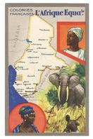 Chromo : Colonies Françaises L'Afrique Equatoriale Fr - Edition Spéciale Des Produits Du Lion Noir -R. C.série 100739 - Advertising