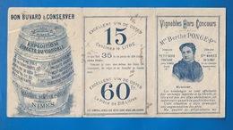 30 - NIMES - DOCUMENT BUVARD De 1898 - VINS - VIGNOBLES DE Mme BERTHE PONGE  - BUVARD PUBLICITAIRE - ALCOOL - Buvards, Protège-cahiers Illustrés