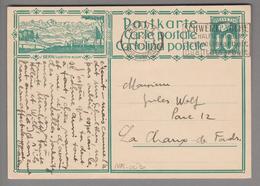 Schweiz GS Bildpostkarte Zu# 115.003 übereinstimmend Bern1 1928-10-01 - Entiers Postaux